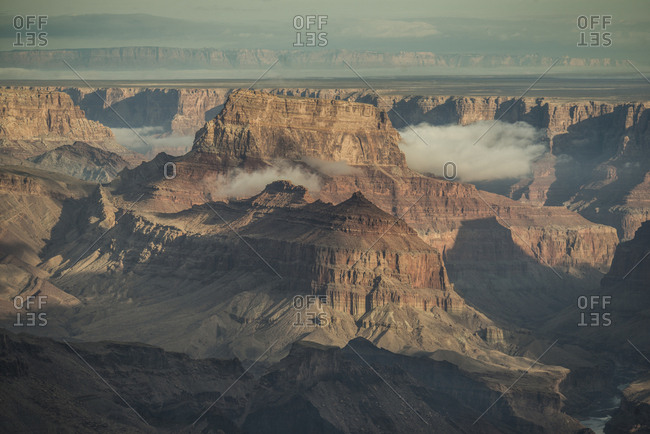 High angle scenic view of rock formations at Grand Canyon National Park