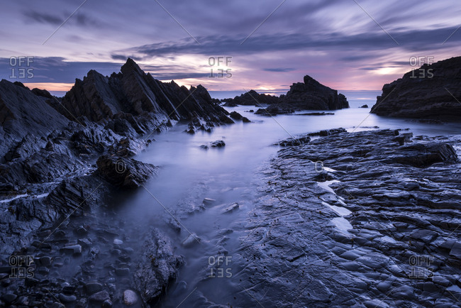 Hartland Quay, late evening light, Hartland, Devon, UK. July