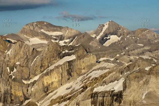 Monte Perdido limestone massif, the european biggest limestone massif. Ordesa National Park, Aragon, Spain