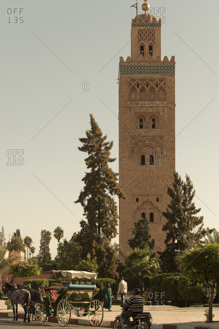 Marrakesh, Medina, Morocco - November 10, 2015: Koutoubia Mosque