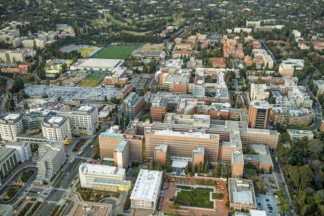 Los Angeles, California, USA - December 7, 2015: Aerial View of University of California (UCLA)