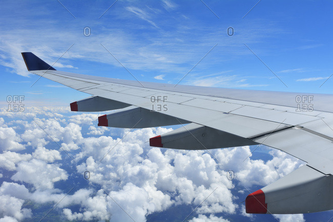 Aircraft Wing During Flight over Queensland, Australia