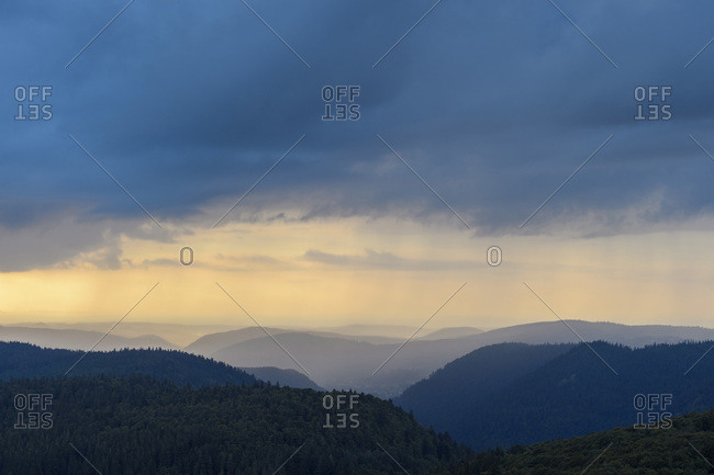 Ridges in Evening, Hohneck Mountain, Vosges Mountains, Alsace, France
