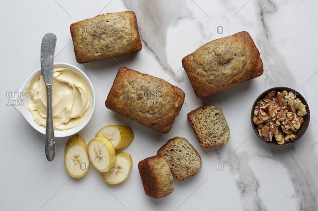 Mini Loaves of banana bread