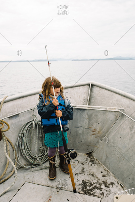Pole stock photos offset for Little girl fishing pole
