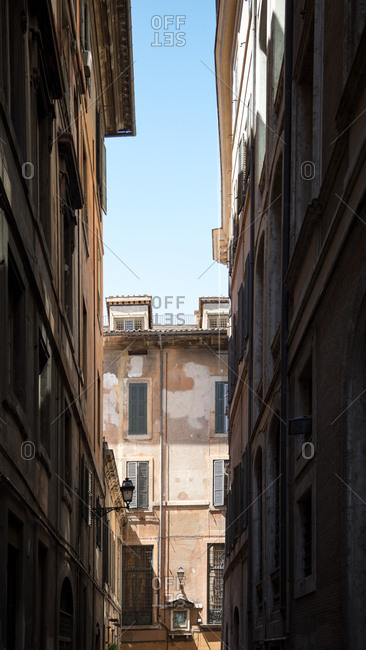 Rome, Italy - July 10, 2017: An alley, Rome, Italy