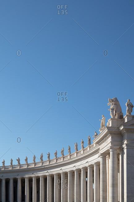 Statues atop St. Peter's Basilica, Vatican City