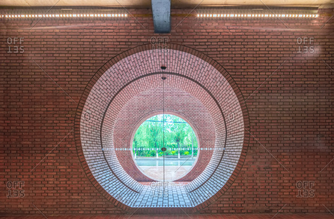 Beijing, China - May 1, 2015: Inside the Red Brick Art Museum