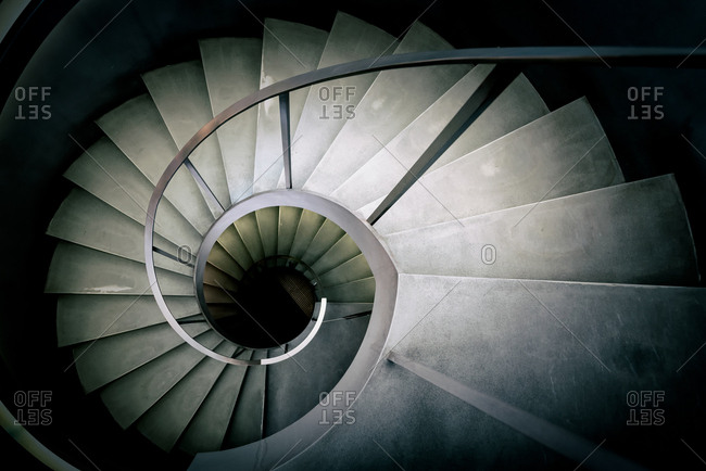 London, England, UK - November 14, 2017: Winding stair
