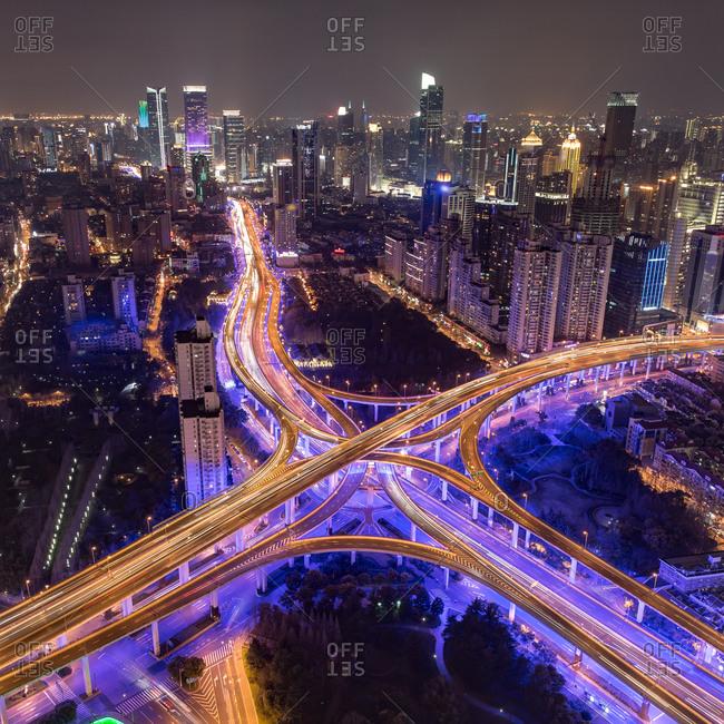 Landmark of Shanghai urban scenery
