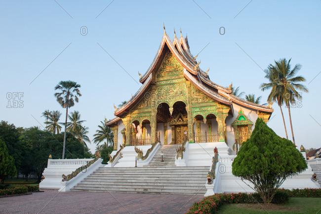 Luang Prabang, Laos - November 4, 2017: Buddhist Temple of Haw Kham at the Luang Prabang National Museum