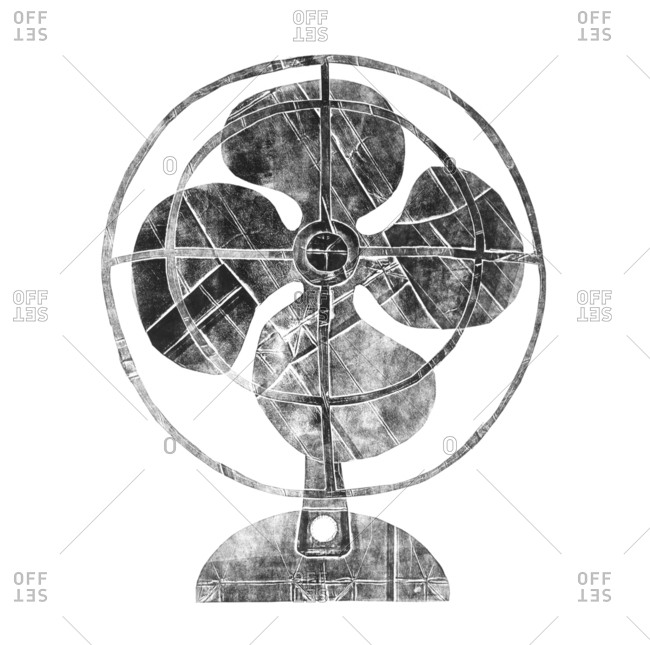 Illustration of a retro fan