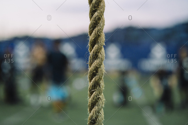 Close-up of rope in gym