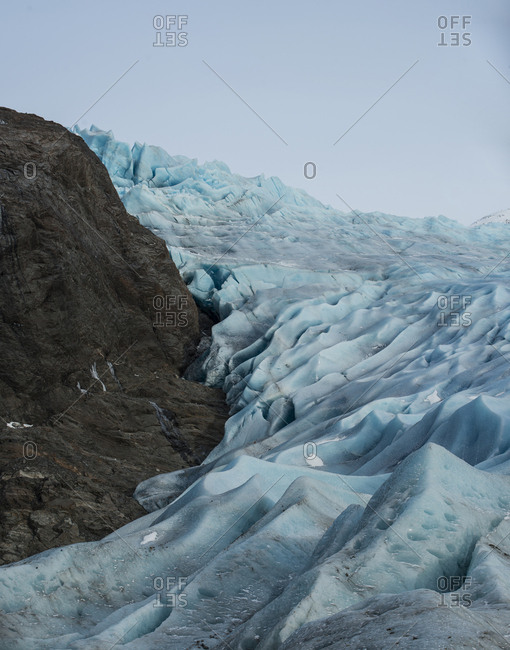 Scenic view of Mendenhall Glacier against sky