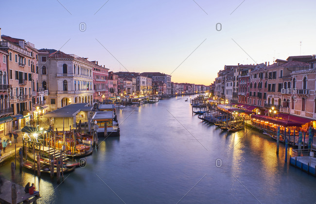 Italy- Venice- anal Grande at blue hour