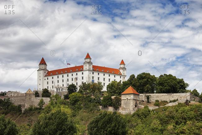 Slovakia- Bratislava- Bratislava Castle on Little Carpathians hill