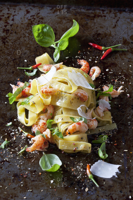 Pappardelle with crayfish
