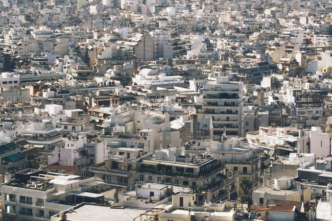 City buildings in Athens, Greece