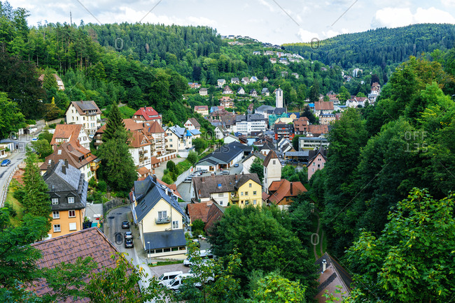 Scenic village of Triberg in the Black Forest of Germany