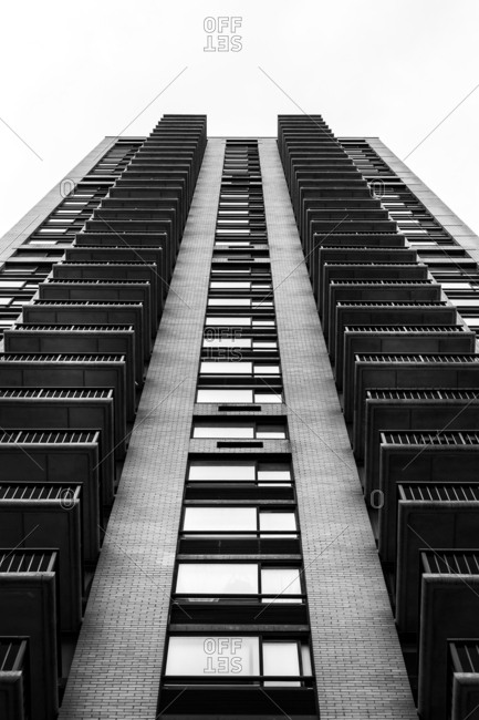 Exterior of residential tower in New York City
