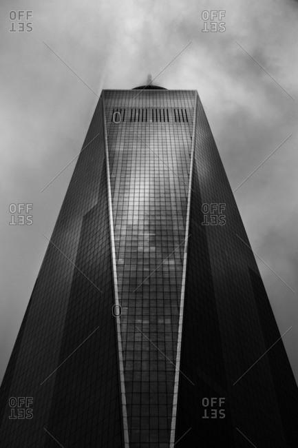 New York City, New York, USA - April 9, 2016: Exterior of One World Trade Center building