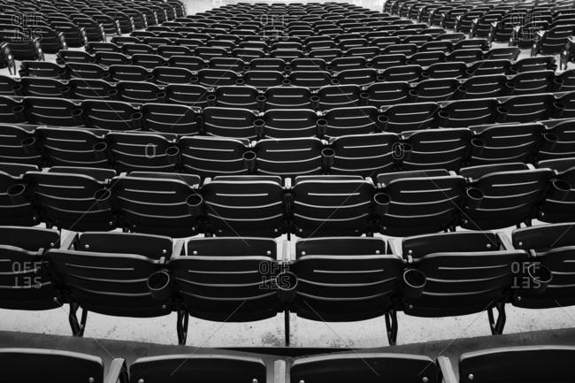 Chairs at baseball stadium in New York City