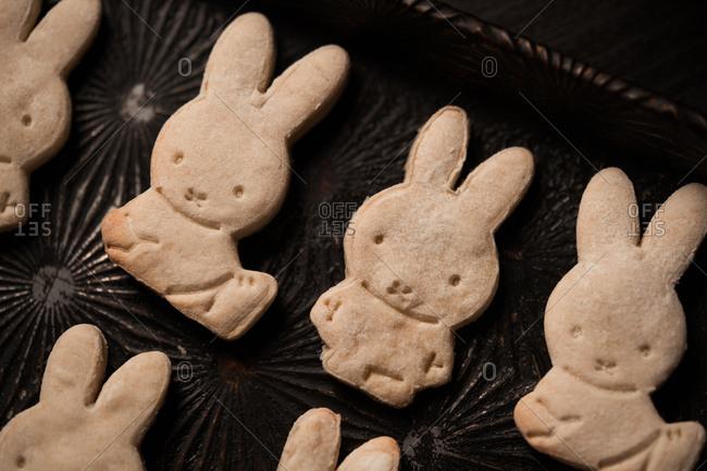 Fresh baked bunny cookies