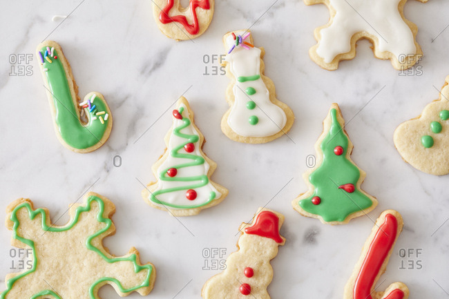 Christmas sugar cookie cut-outs with icing