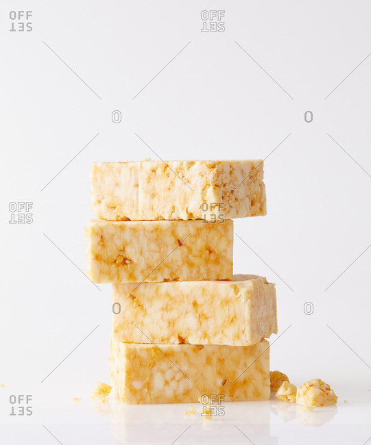 Stacked spicy cheese