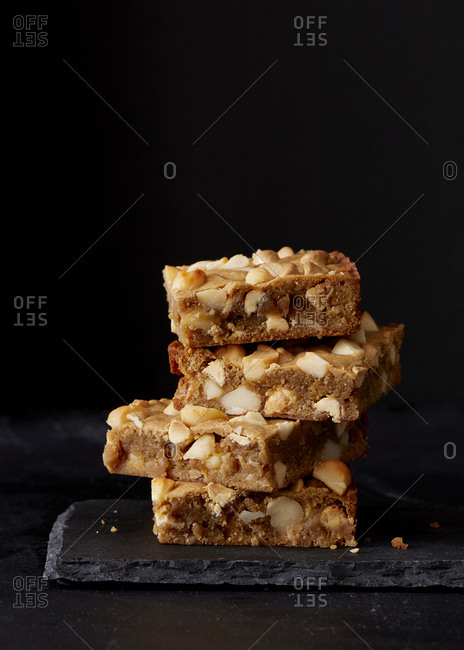 Stack of nutty pastries