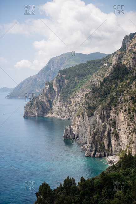 View of the Amalfi Coast in Italy