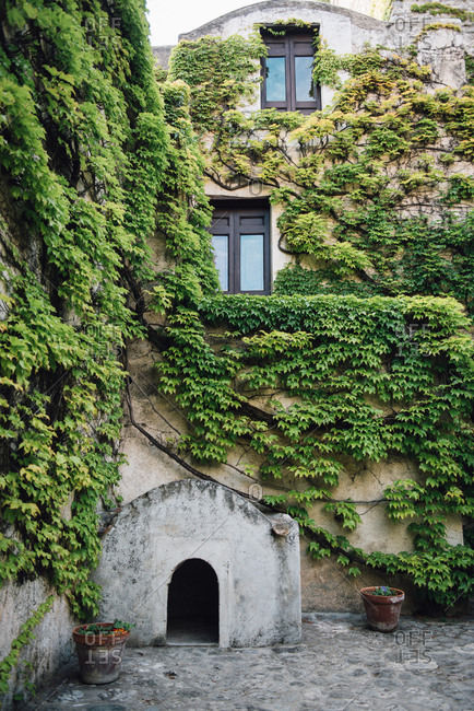 Vine covered building in Ravello, Amalfi Coast, Italy