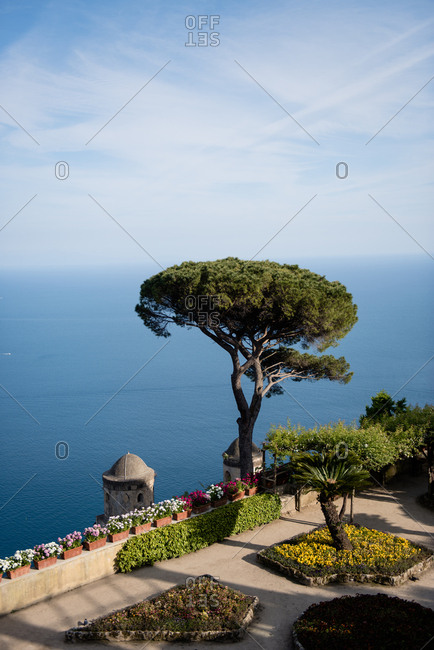 View of the Tyrrhenian sea from Ravello, Amalfi Coast, Italy