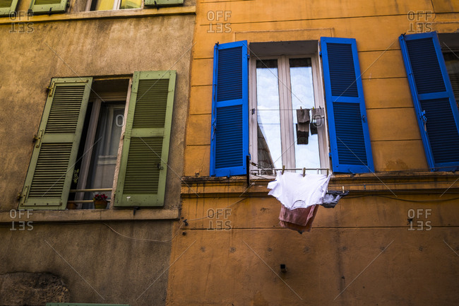 Marseille, France - March 6, 2017: Le Panier neighborhood in Marseille France Europe