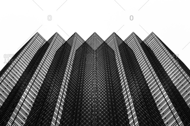 April 28, 2016 - New York, NY: Zigzag architectural elements of Trump Tower in Midtown Manhattan