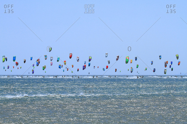 May 9, 2015: France, Defi Kite in Gruissan. Kitesurf race.