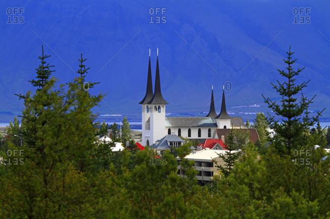 Iceland, Reykjavik. Hateigskirkja. Lutheran church.