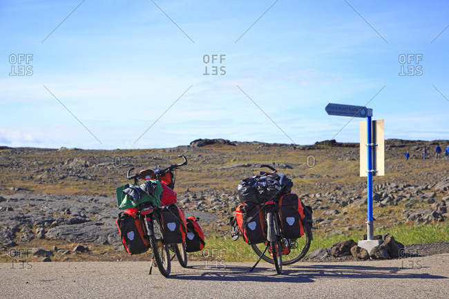 Iceland,visiting by bike.