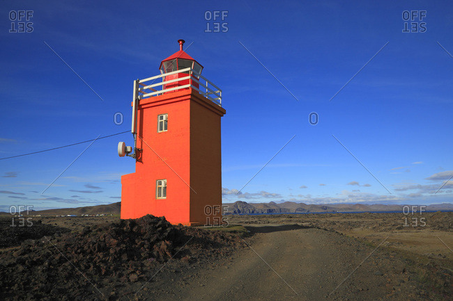 Iceland, Sudurnes, Grindavik lighthouse.