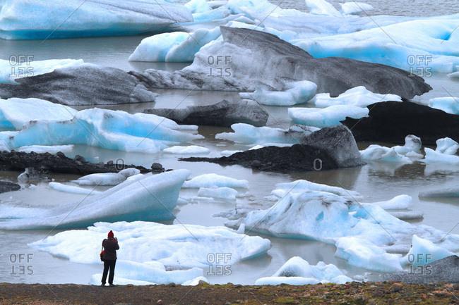 Iceland, Sudurland. Fjallsarlon lagoon