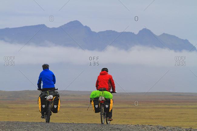August 9, 2015: Iceland, Sudurland. bikes.