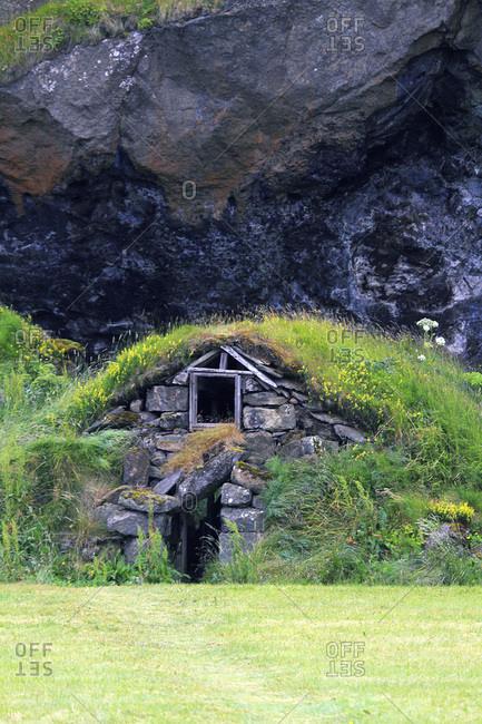 Iceland, Sudurland. Old house.