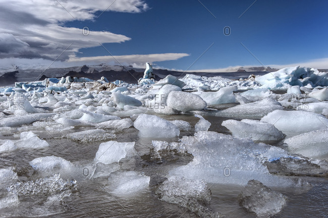 Iceland, Jokulsarlon glacial lagoon