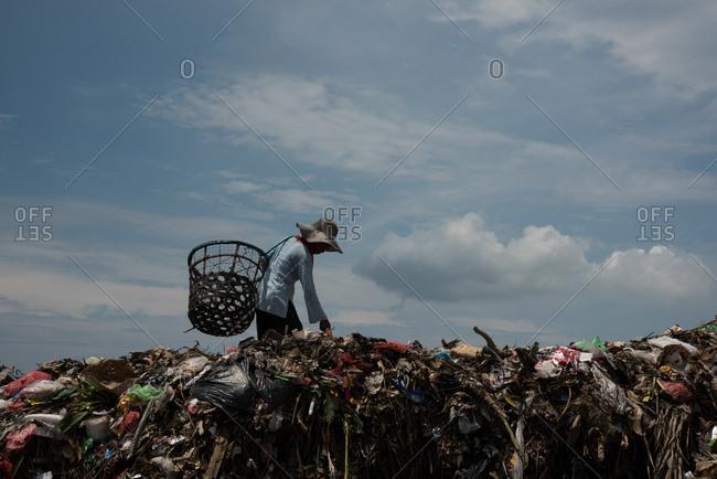 February 21, 2016: Indonesia, Jakarta, Bantar Gebang landfill