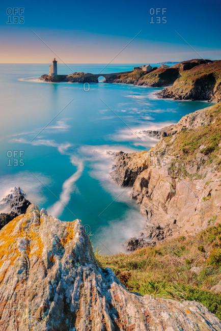 France, Finistere, Plouzane, the 'Tiny Kitty' lighthouse