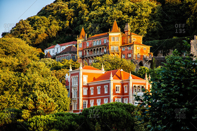 August 12, 2016: Museum-Palace Palacio Valencas, Sintra, Lisbon area, Portugal
