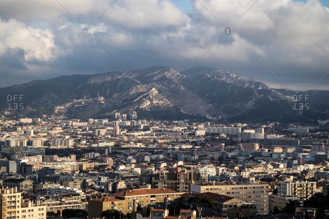France,Marseille,view of the city from Notre Dame de la Garde
