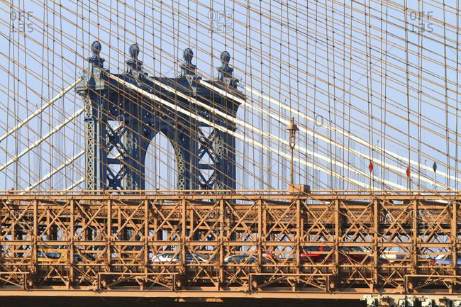 Usa, New-York City. Brooklyn Bridge.