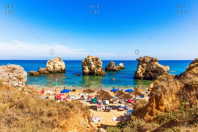 "August 16, 2016: View ""Praia Arrifes"" region of Algarve, Portugal"