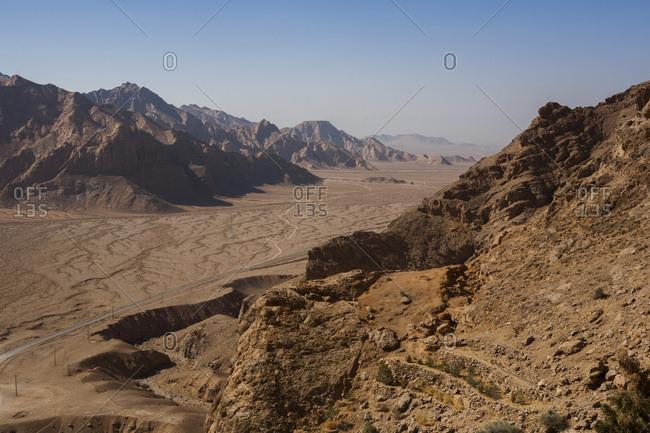Desert landscape in Chak chak, Yazd province, Iran